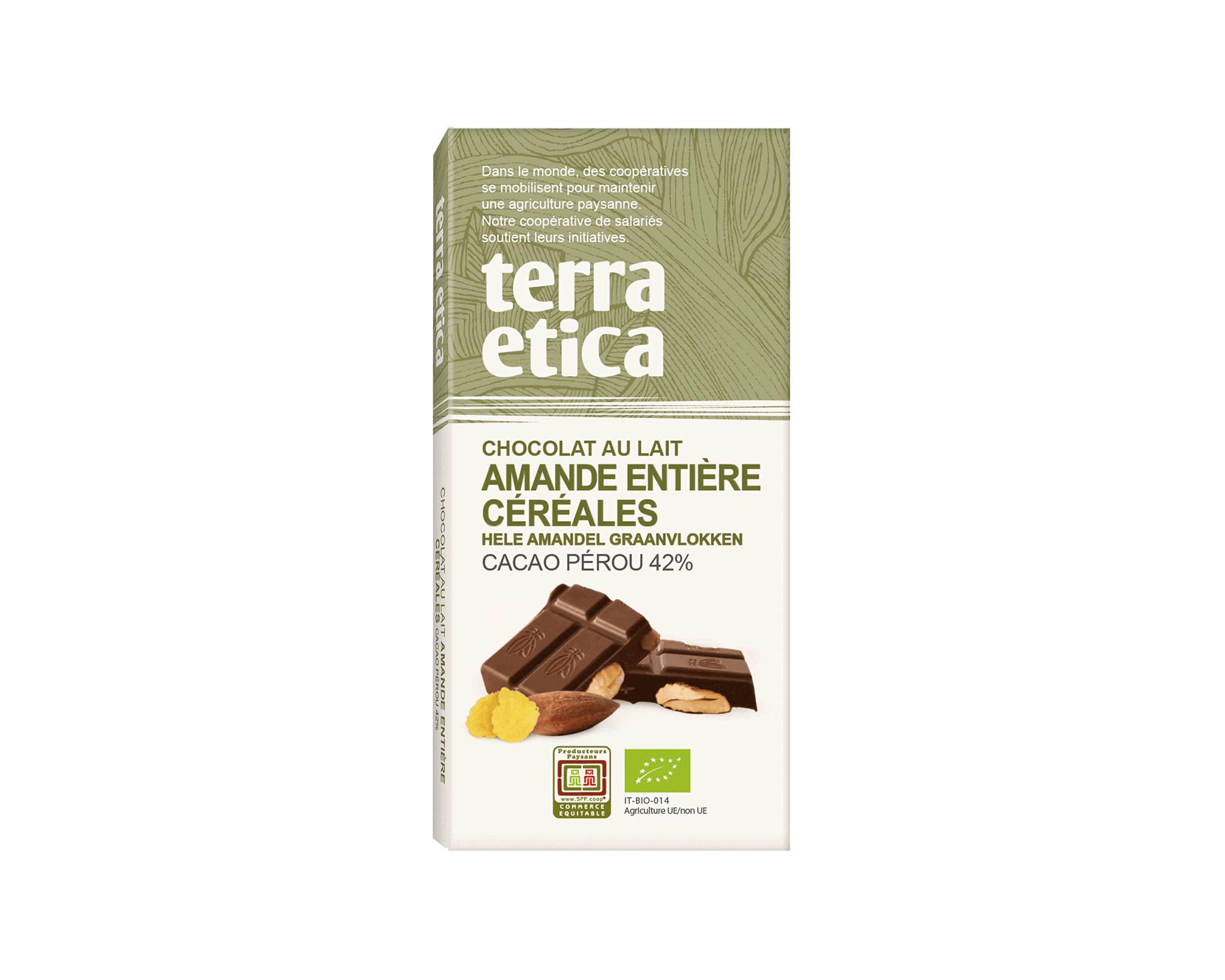 Chocolat Lait intense 47% cacao Pérou bio et équitable I Terra Etica