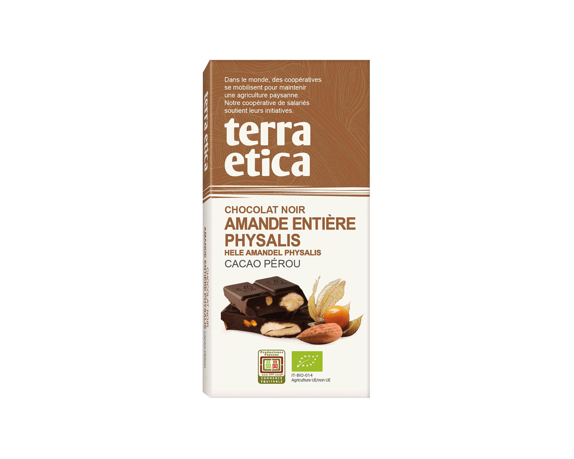 Chocolat Lait 42% cacao Biscuit sablé bio et équitable I Terra Etica