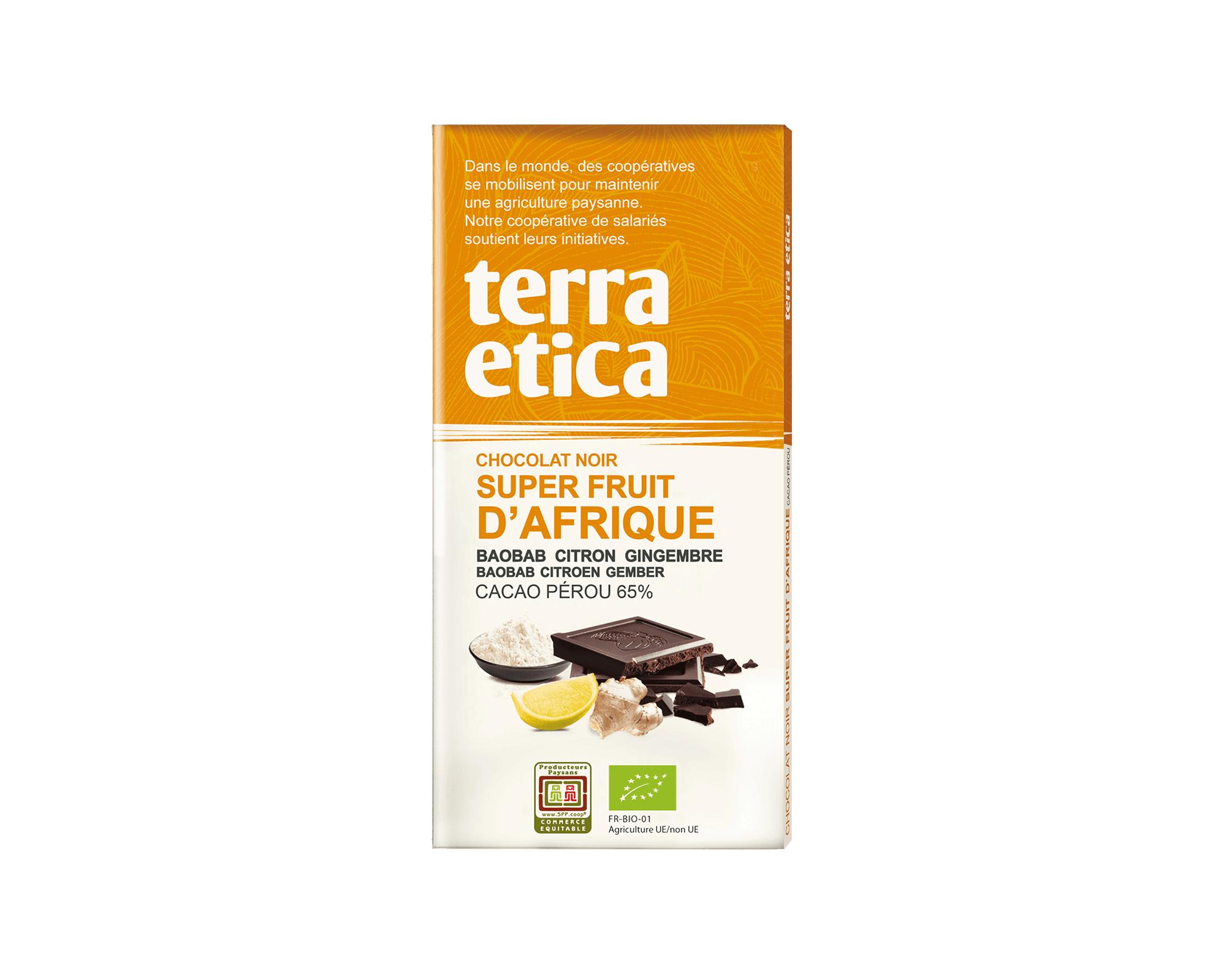 Chocolat noir Super fruit d'Afrique bio et équitable I Terra Etica