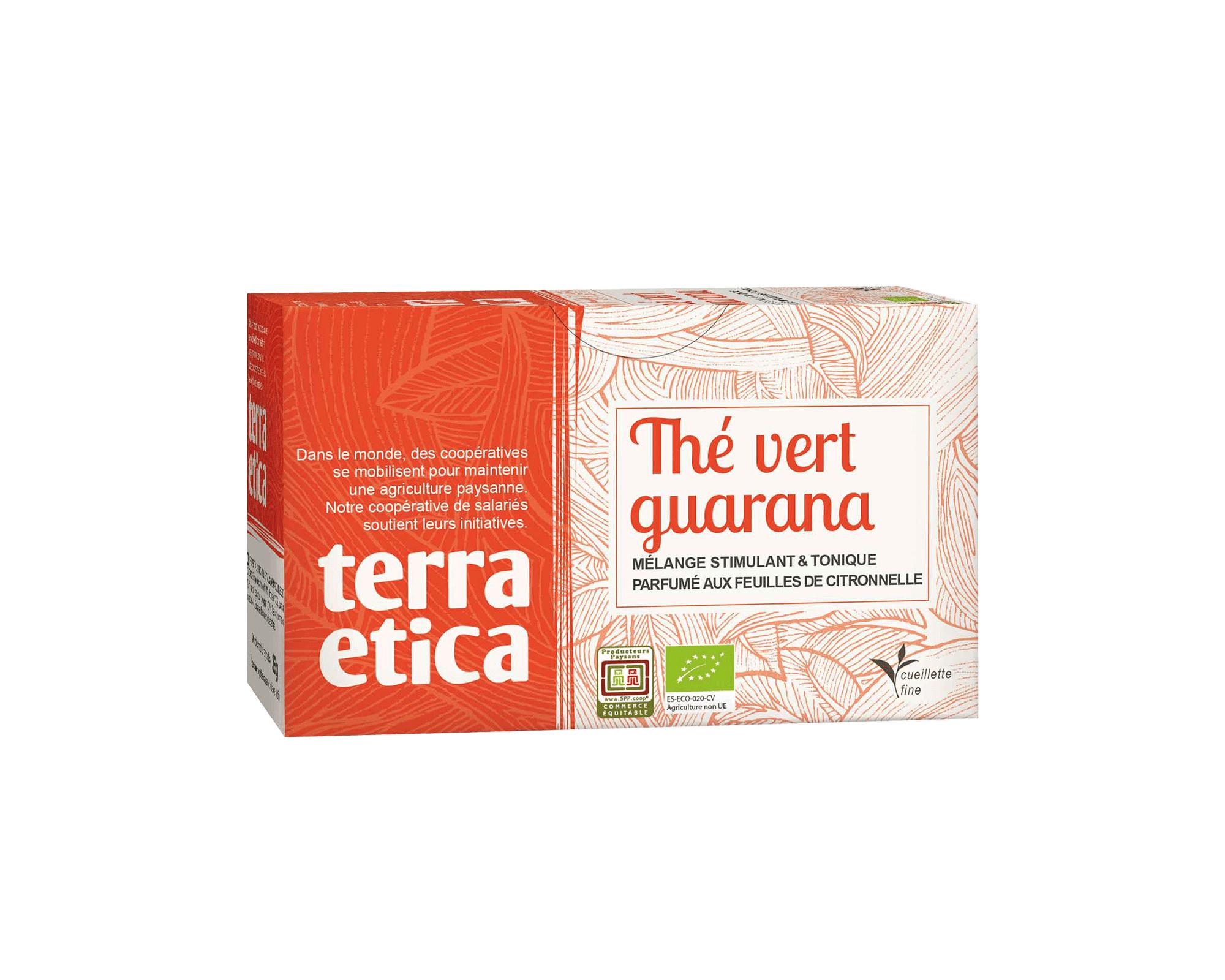 Thé vert de Ceylan guarana citronnelle bio et équitable I Terra Etica