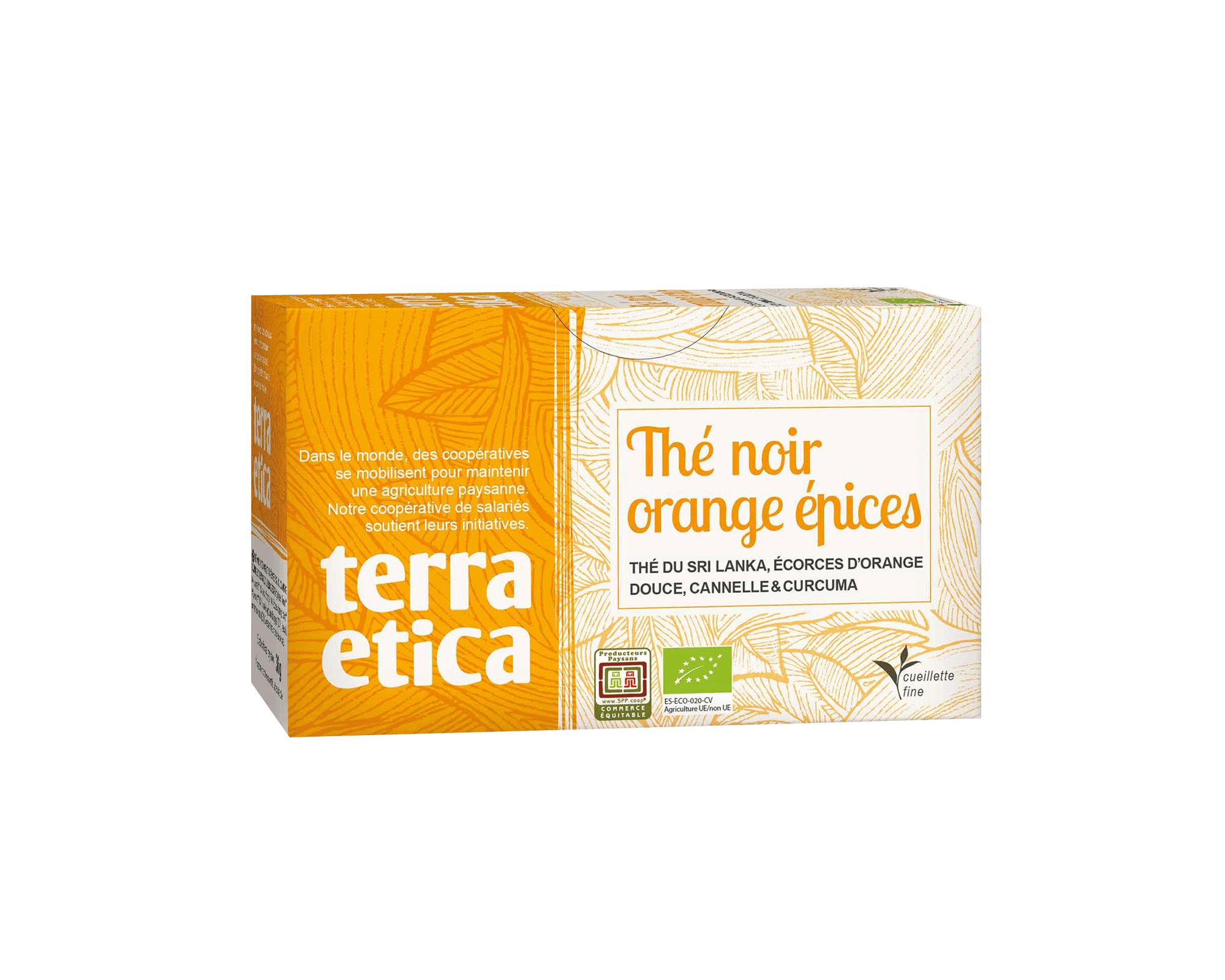 Thé Noir de Ceylan Orange et Epices bio et équitable I Terra Etica