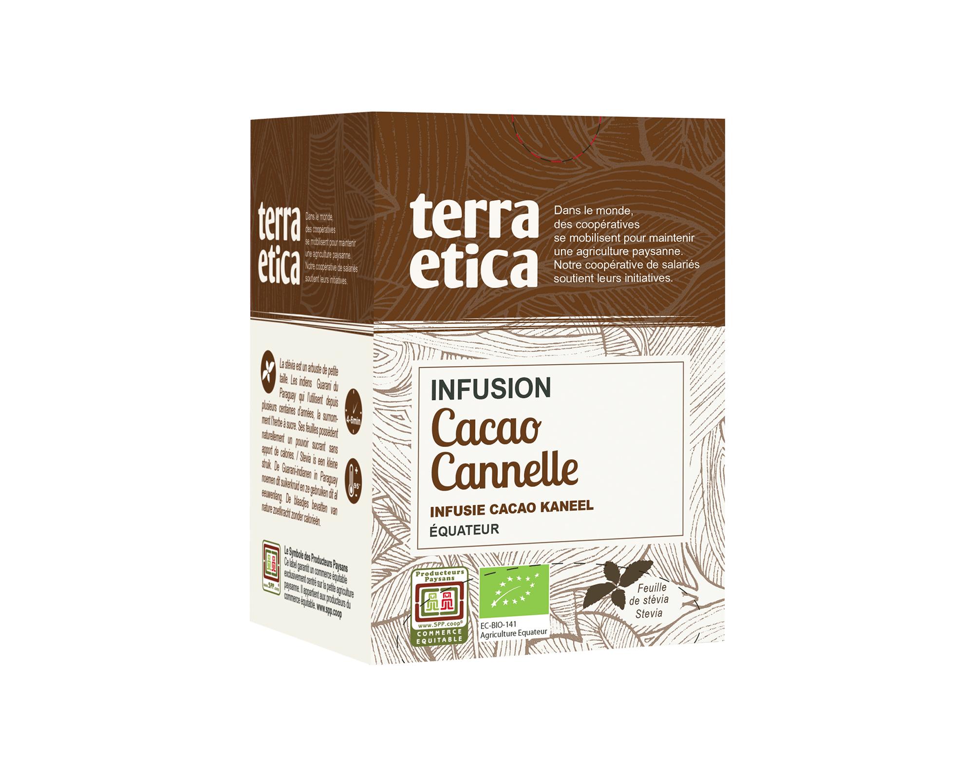 Infusion bio et équitable Cacao Cannelle I Terra Etica