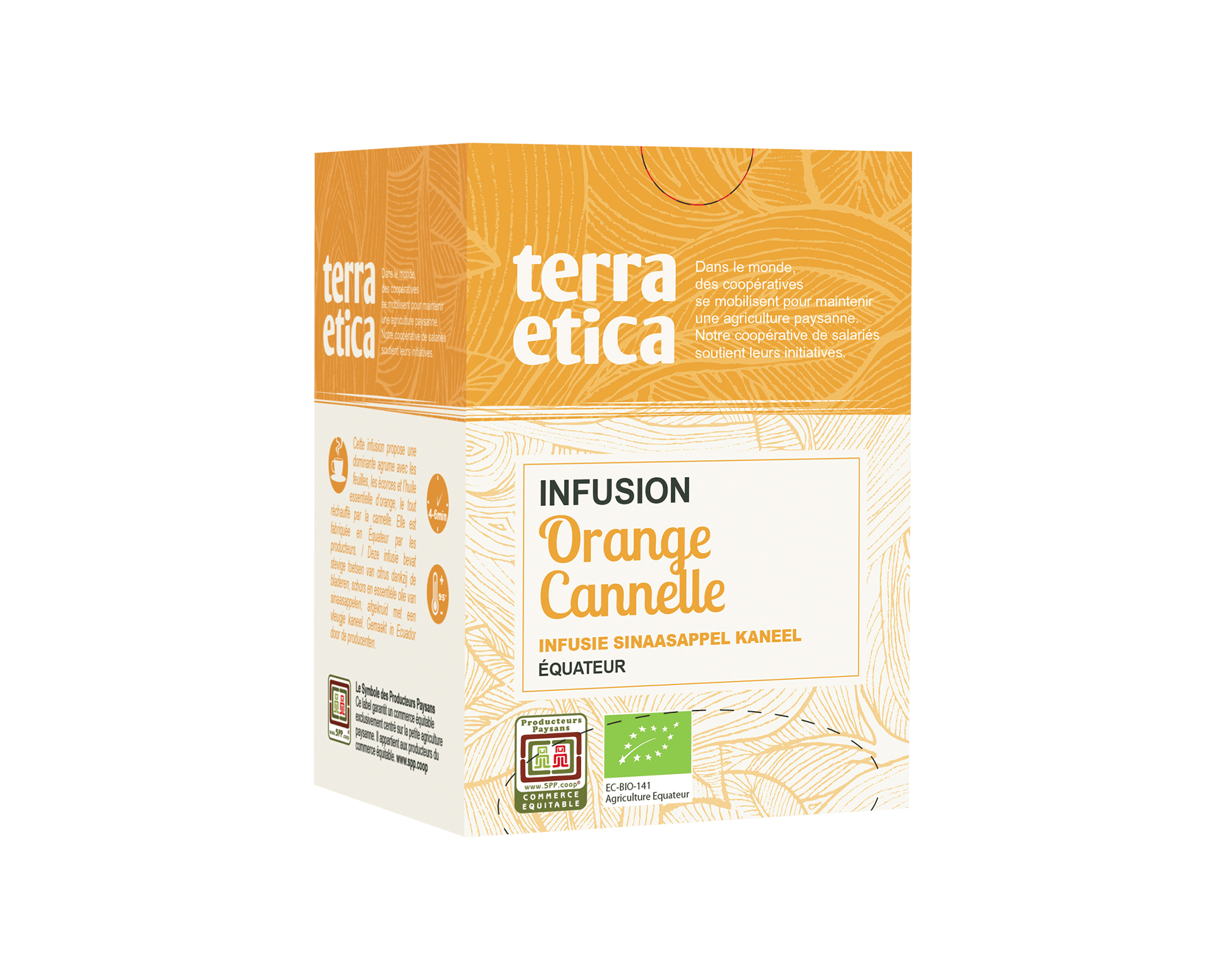 Infusion bio et équitable Orange Cannelle I Terra Etica