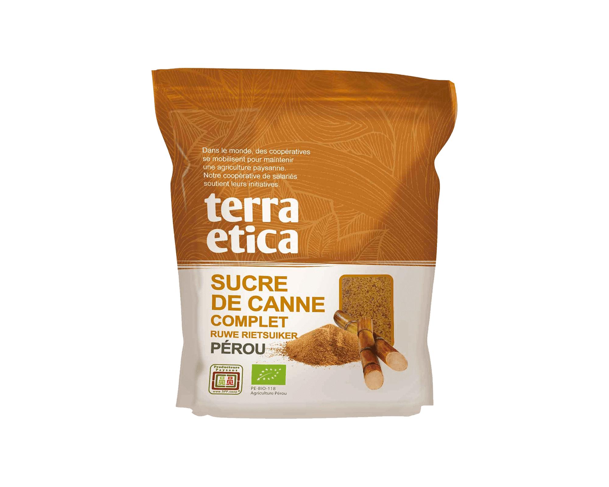 Sucre complet de canne bio et équitable du Pérou I Terra Etica