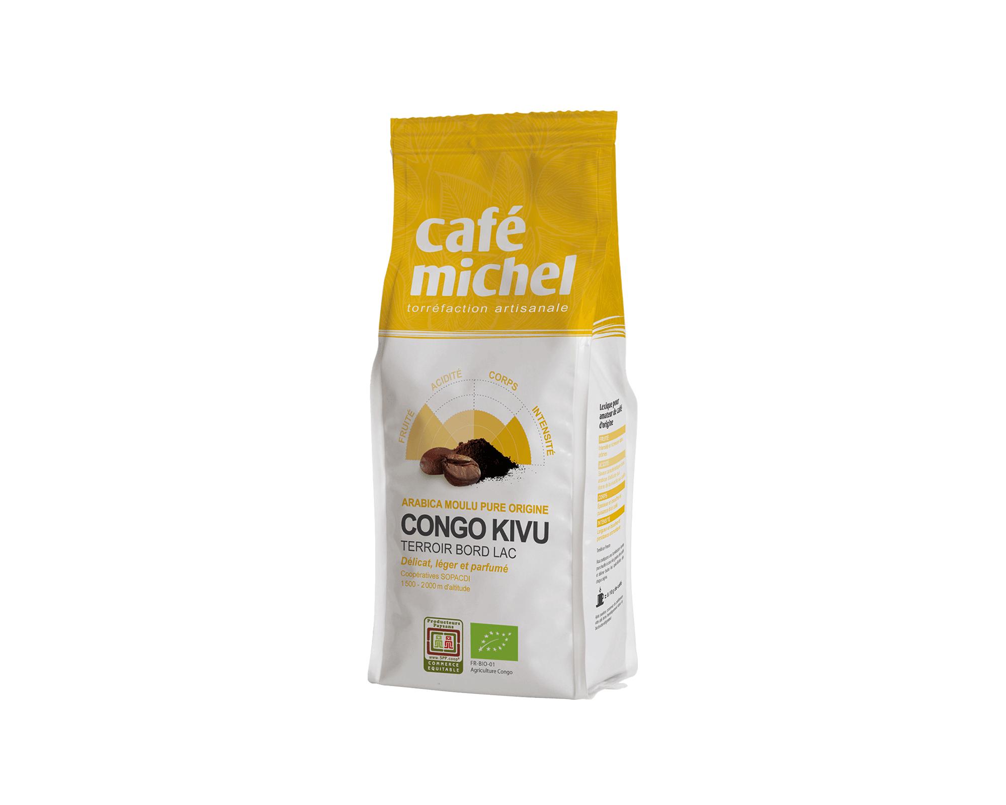 Pur arabica Congo Kivu Moulu biologique et équitable 250gr I Café Michel