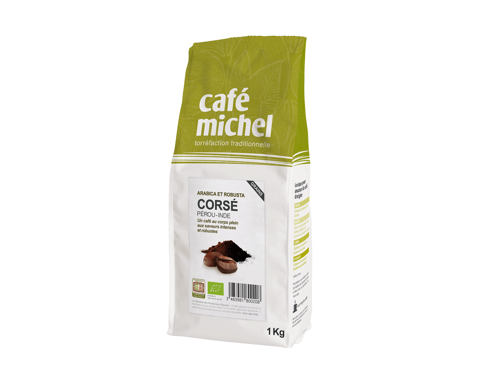 Pur arabica Mexique Moulu biologique et équitable 500g I Café Michel