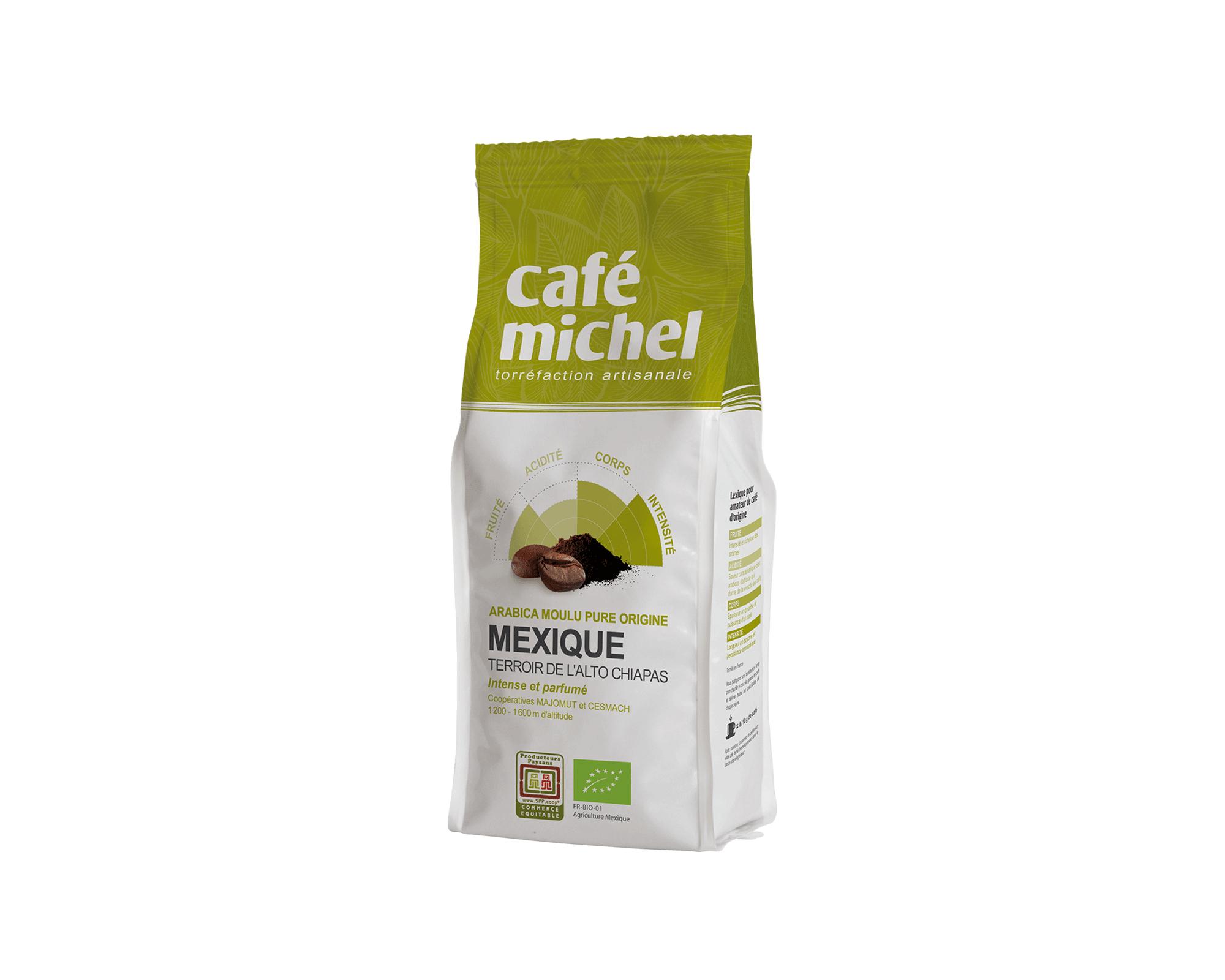 Pur arabica Mexique Moulu biologique et équitable 250gr I Café Michel