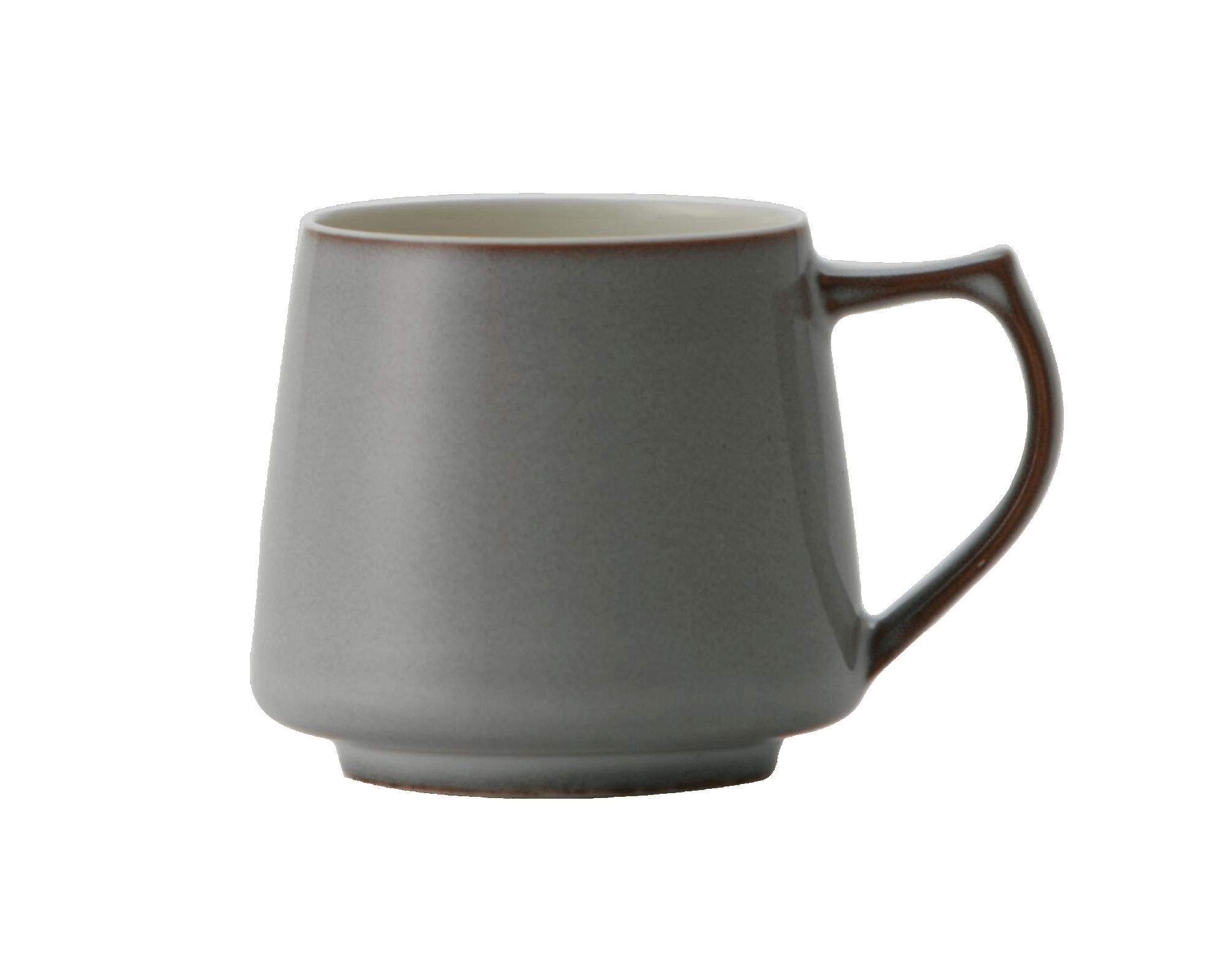 Mug Aroma gris en porcelaine d'Origami fait au Japon I Café Michel