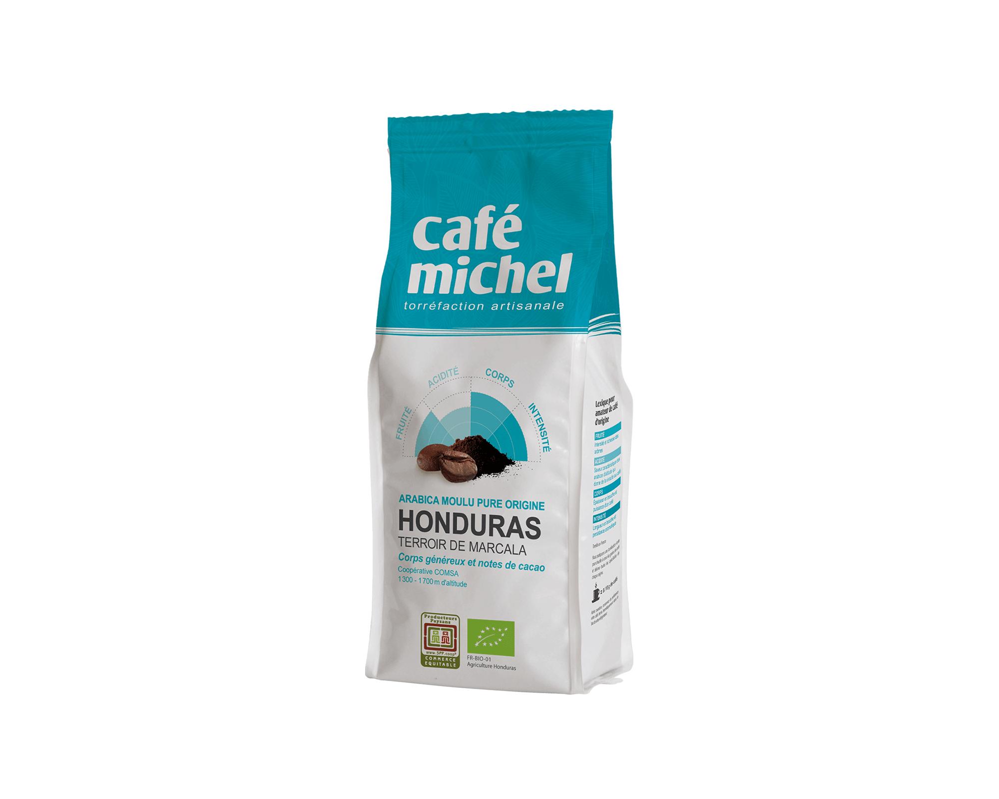 Pur arabica de Colombie moulu biologique et équitable 250gr I Café Michel