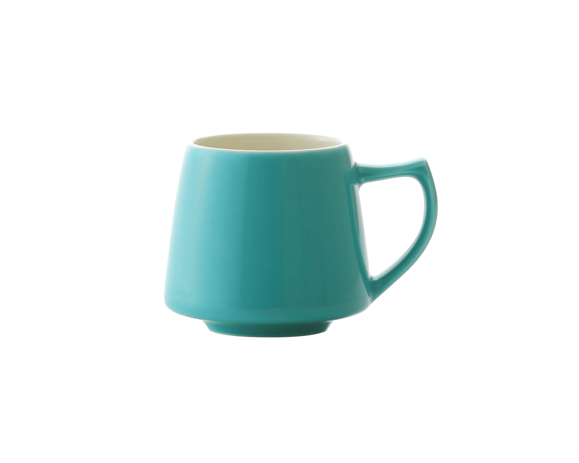 Tasse Aroma turquoise en porcelaine du Japon Origami I Café Michel