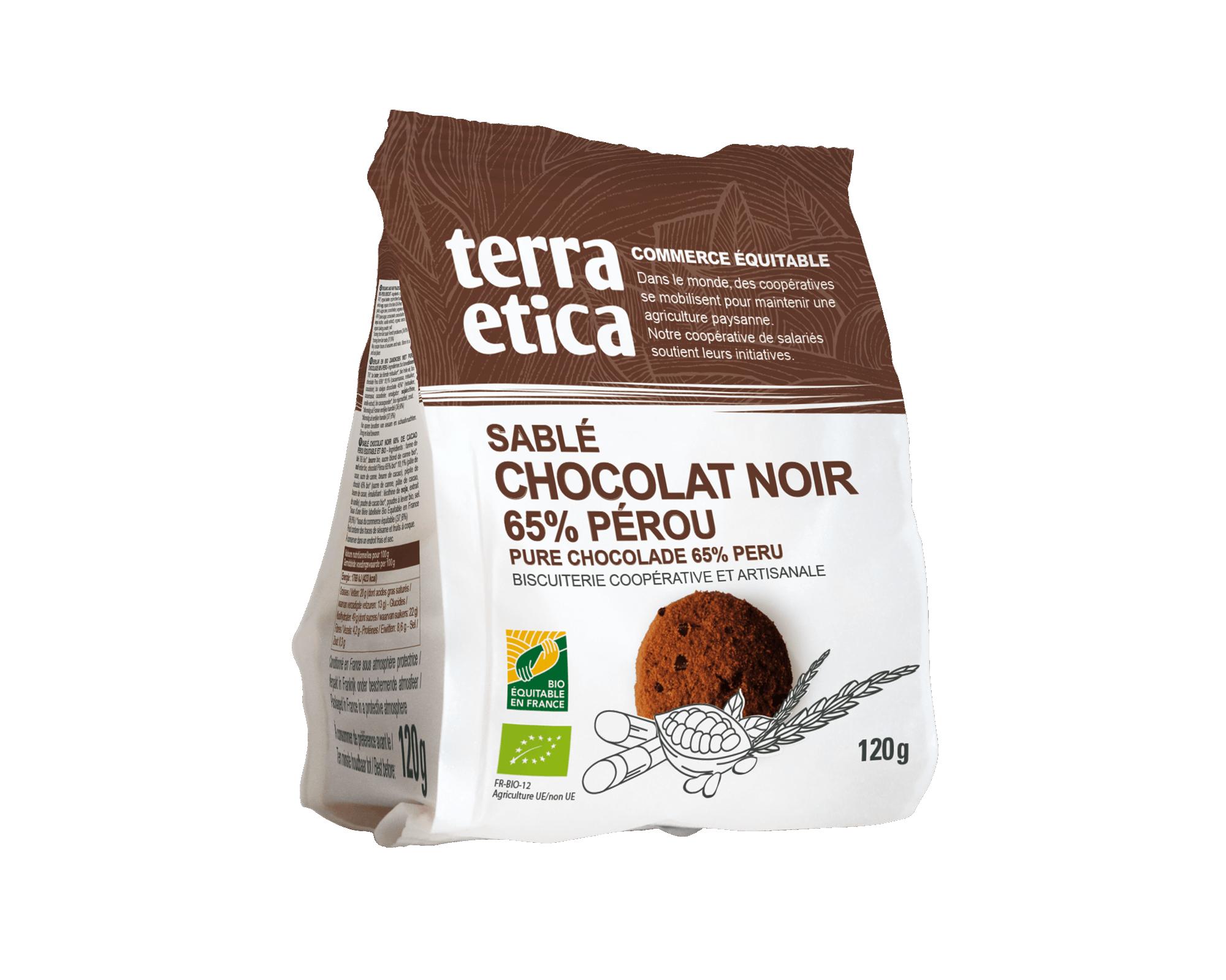 Sablés au Chocolat noir biologique et équitables I Terra Etica