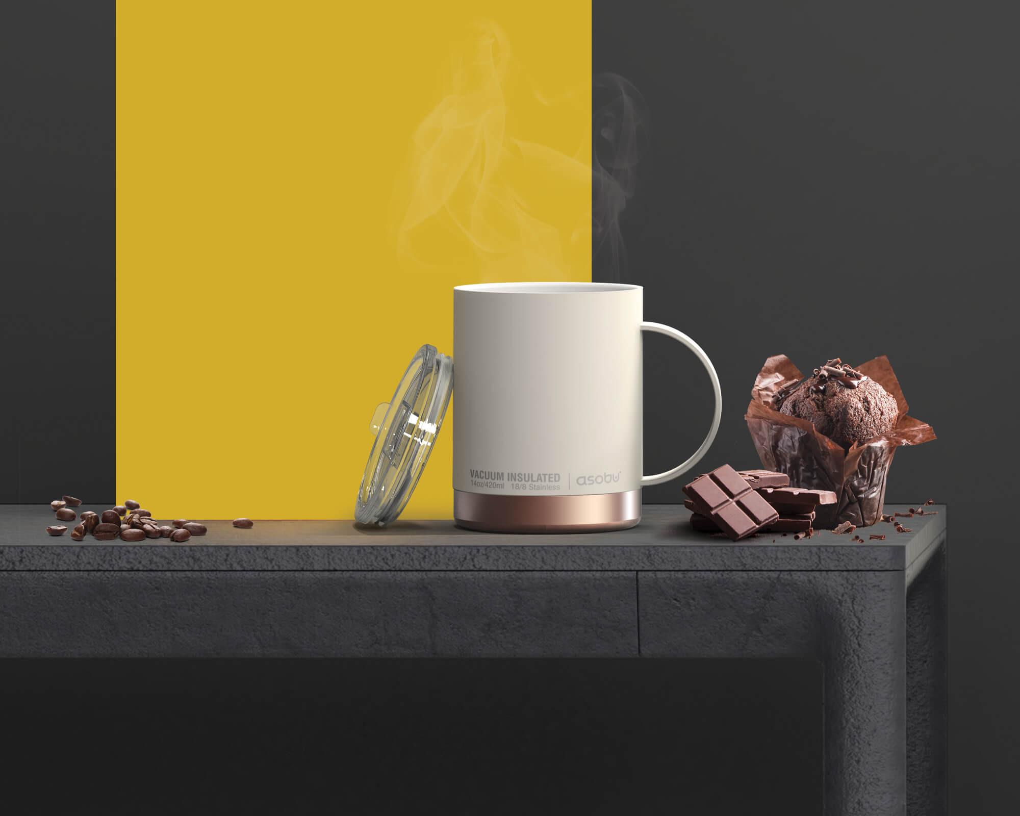 Mug isotherme pour boissons chaudes Asobu I Café Michel