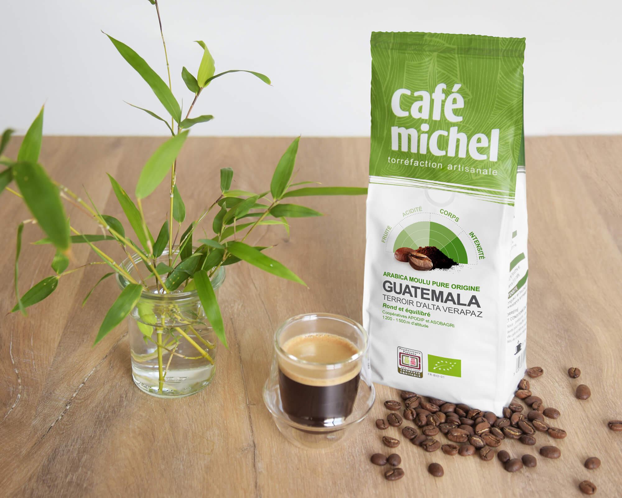 Pur arabica du Guatémala Moulu biologique et équitable 250gr I Café Michel