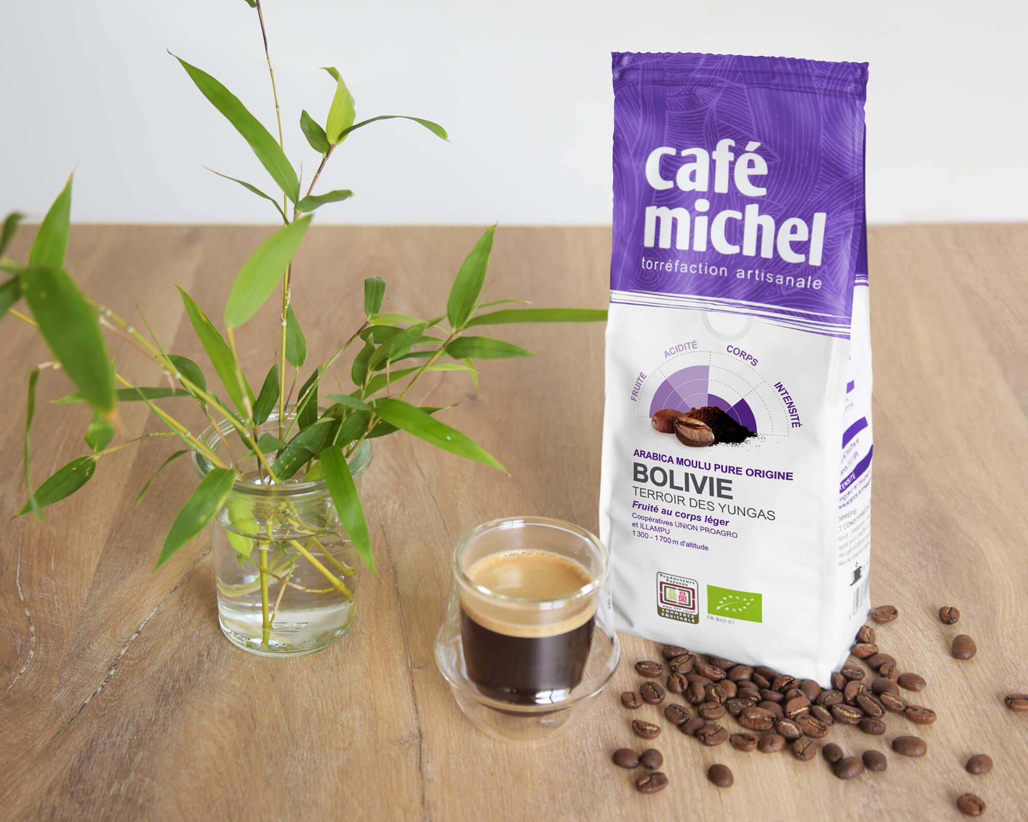 Pur arabica de Bolivie Moulu biologique et équitable 250gr I Café Michel