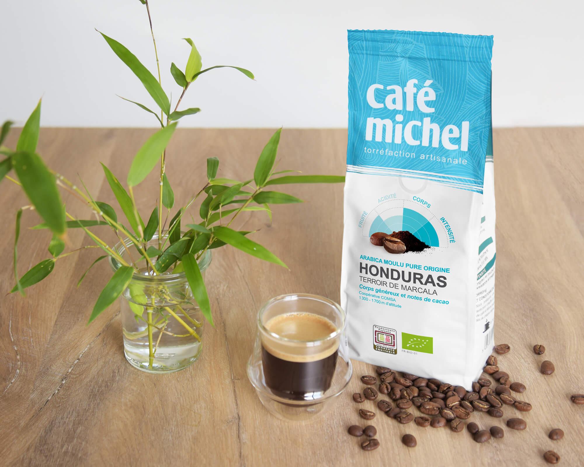 Pur arabica Honduras Moulu biologique et équitable 250gr I Café Michel