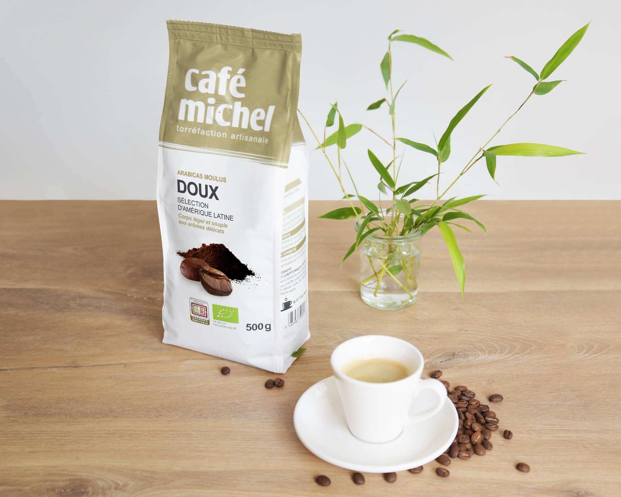 Mélange arabica Doux Moulu biologique et équitable 500g I Café Michel
