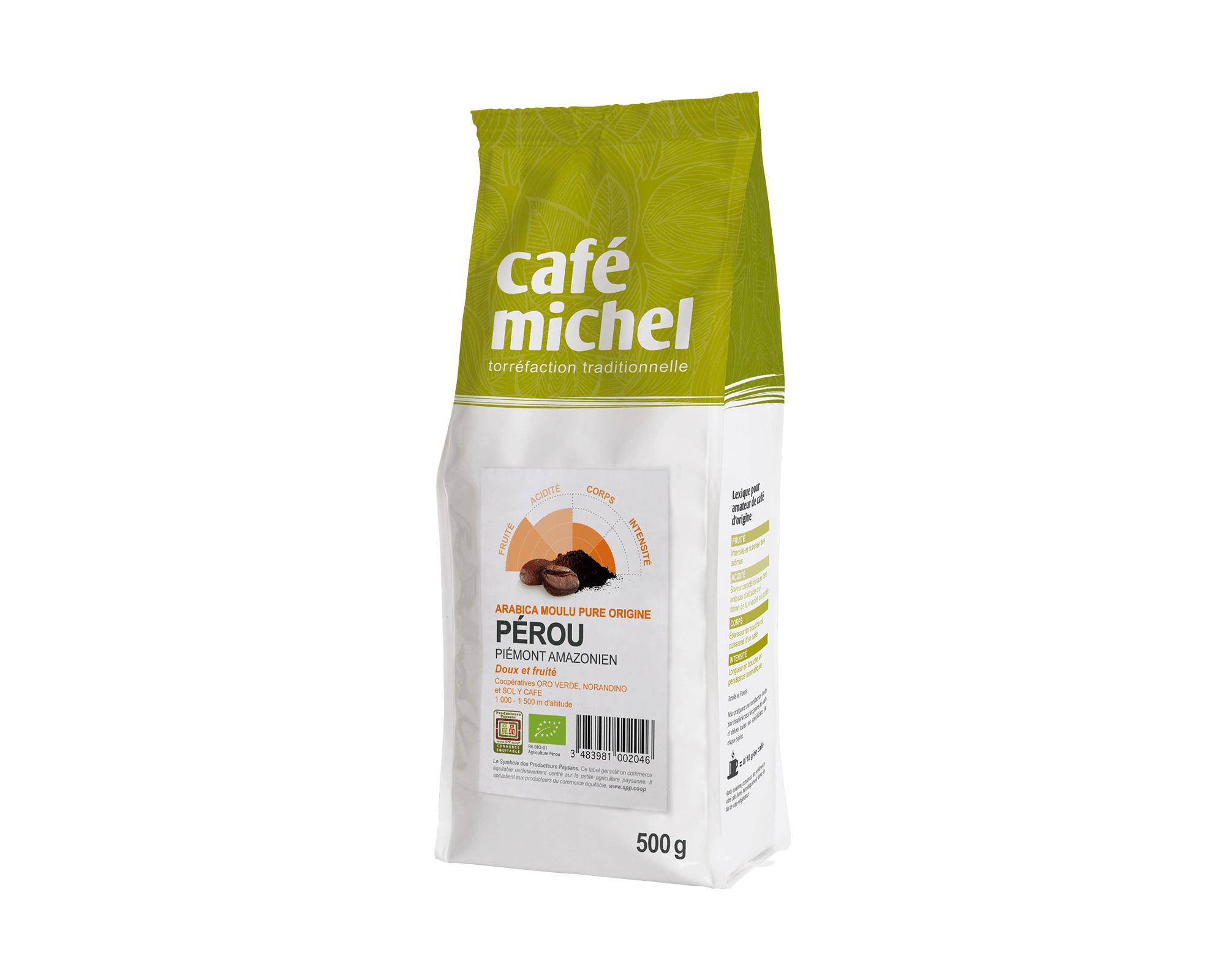 Pur arabica Pérou Moulu biologique et équitable 500g I Café Michel