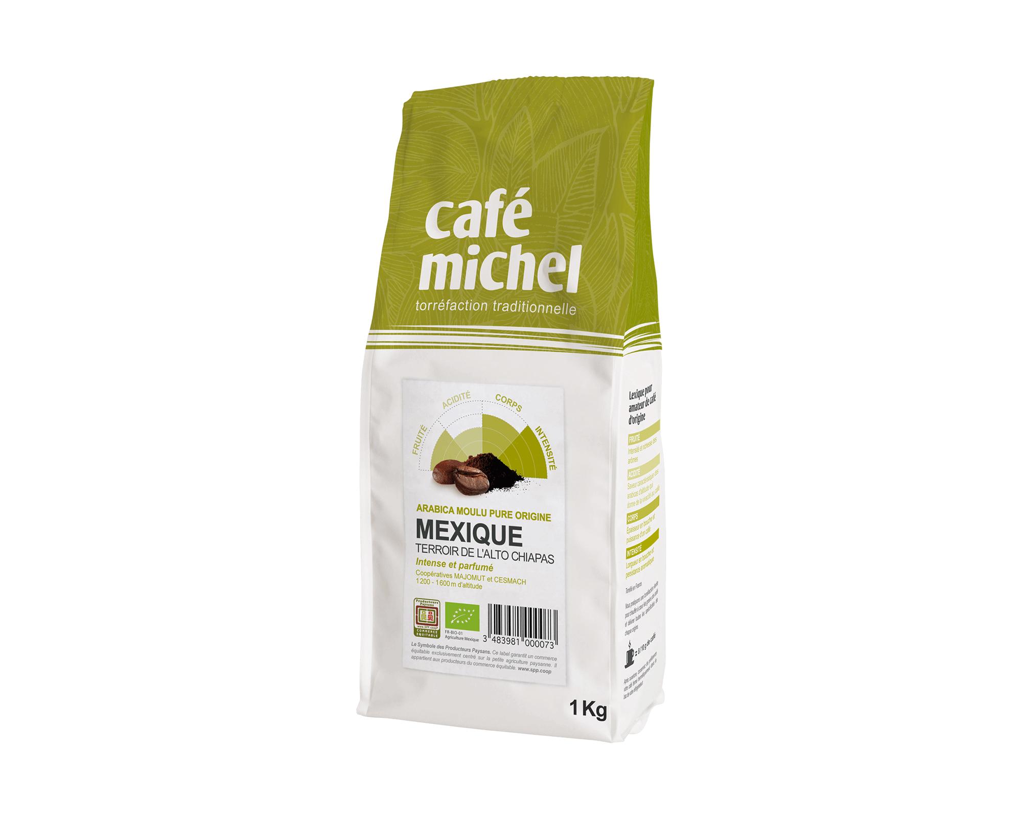 Pur arabica Éthiopie Sidamo Moulu biologique et équitable 500g I Café Michel