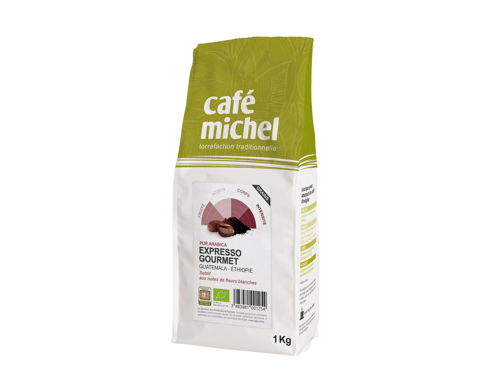 Pur arabica Mexique Grains biologique et équitable 500g I Café Michel