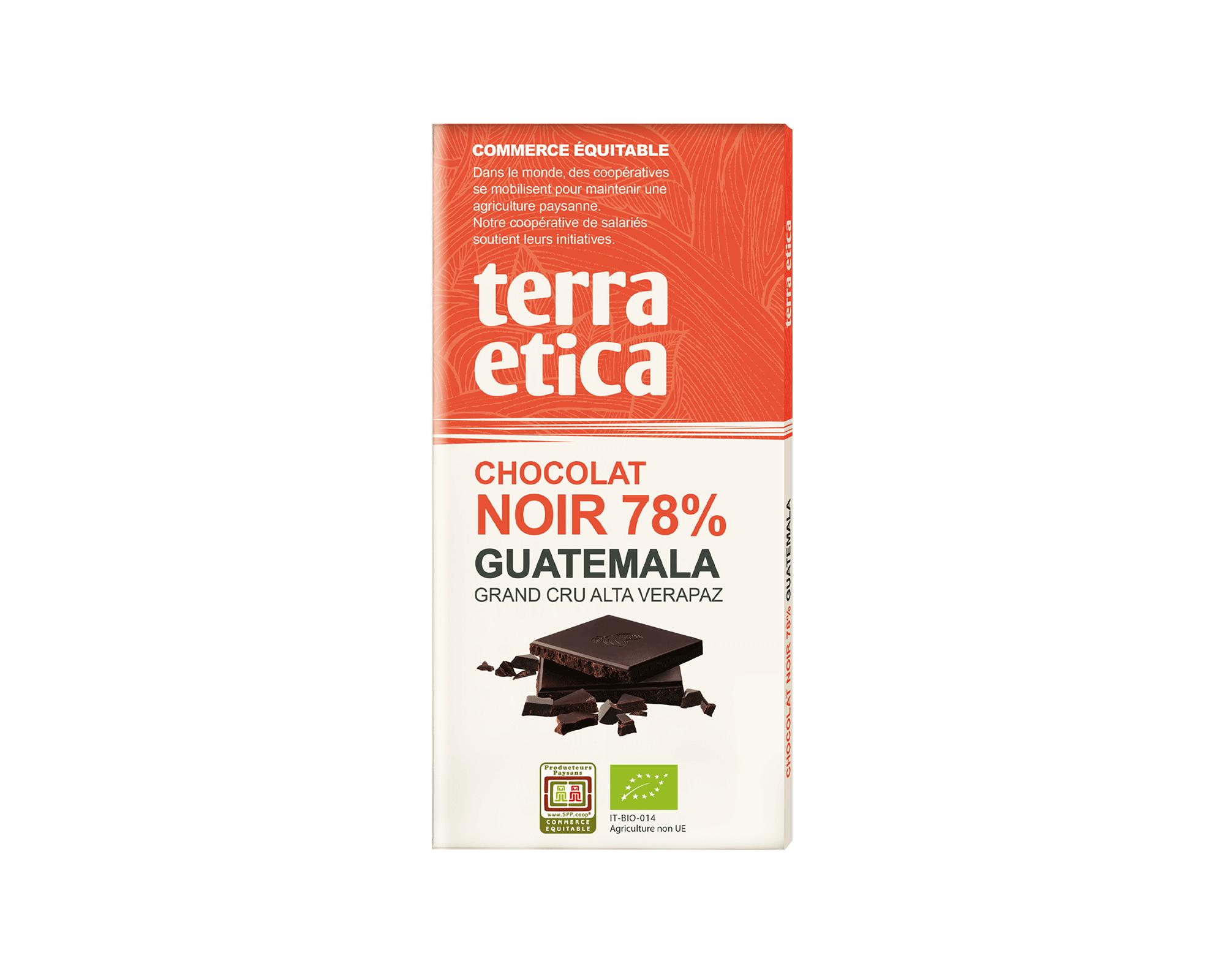 Chocolat Noir bio 85% Madagascar issu du commerce équitable I Terra Etica