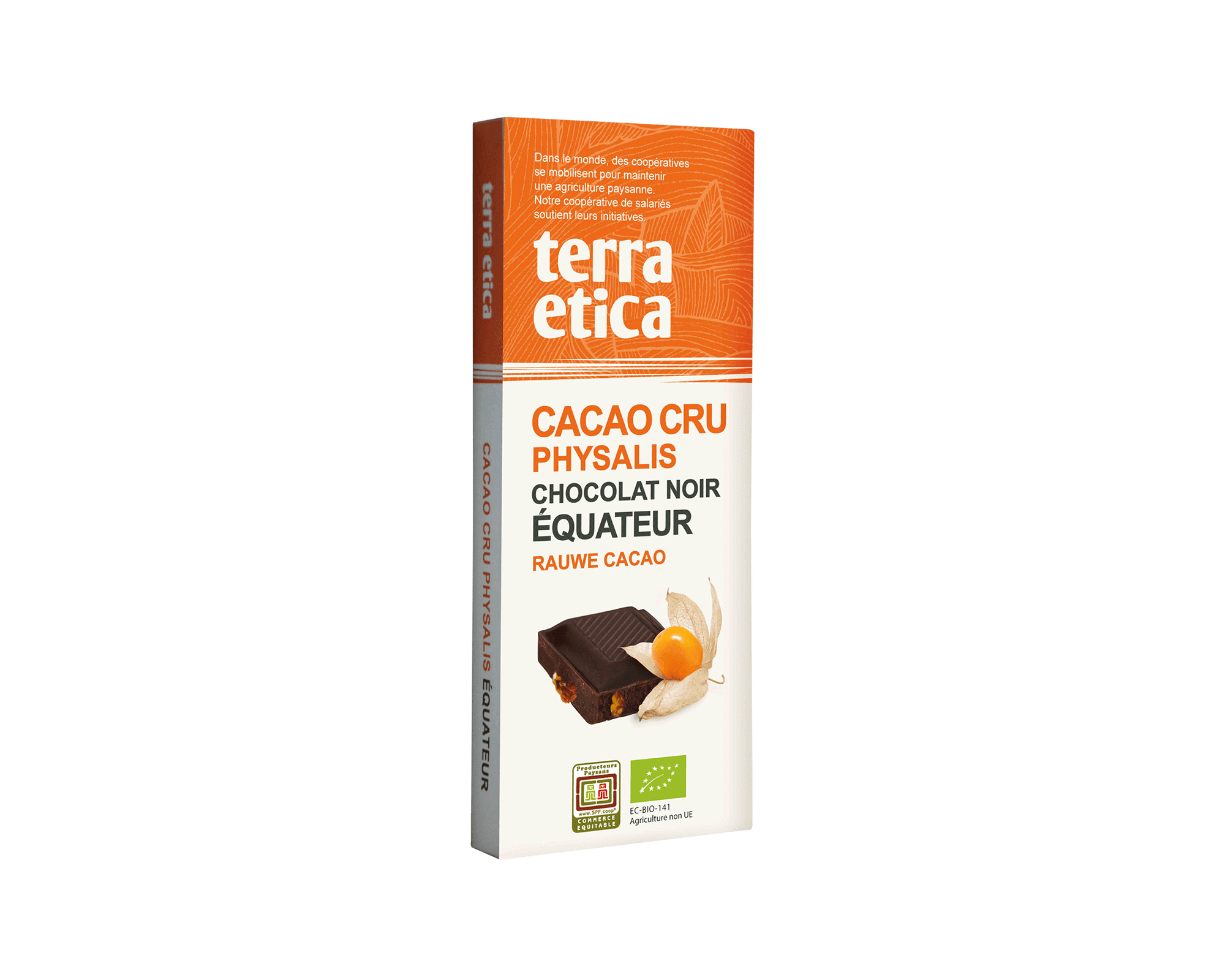 Cacao Cru 70% cacao non torréfié et Physalis bio et équitable I Terra Etica